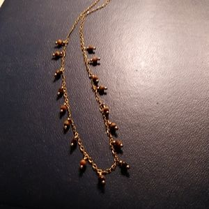Jewelry - Vintage tiger's eye drops necklace